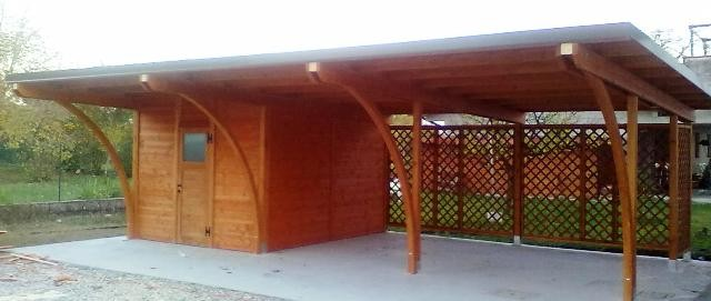 Realizzare una autorimessa in legno a caorso piacenza for Costo per costruire un garage per auto