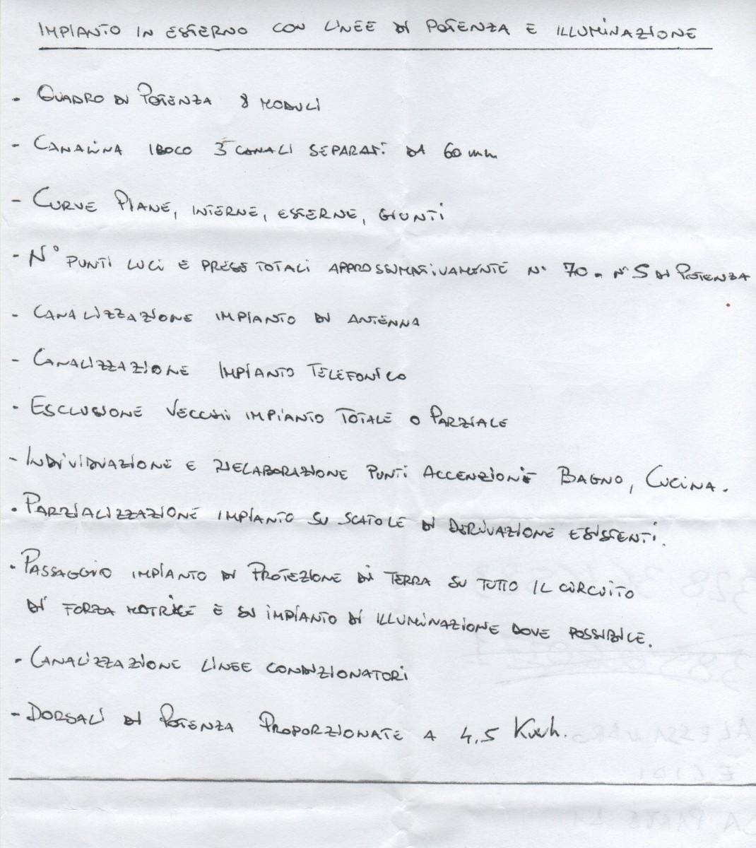 Preventivo impianto elettrico a roma online interni for Preventivo impianto elettrico fac simile