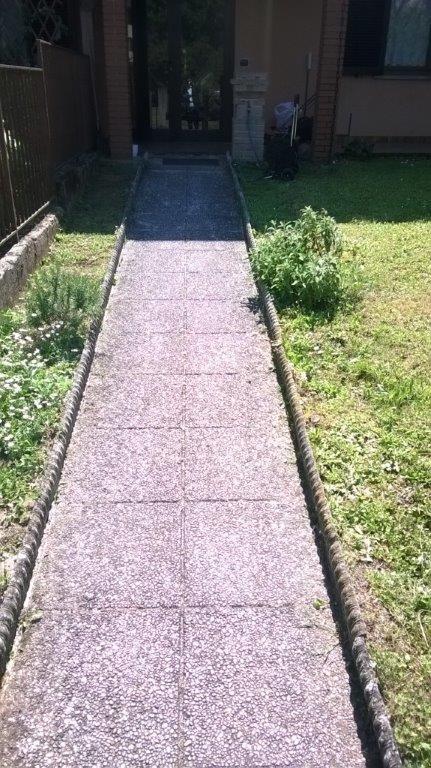 Pavimentazione vialetto giardino a pavia - Pavimentazione giardino ...