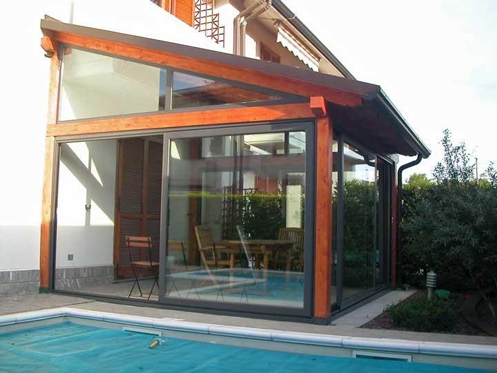 Veranda legno - vetro