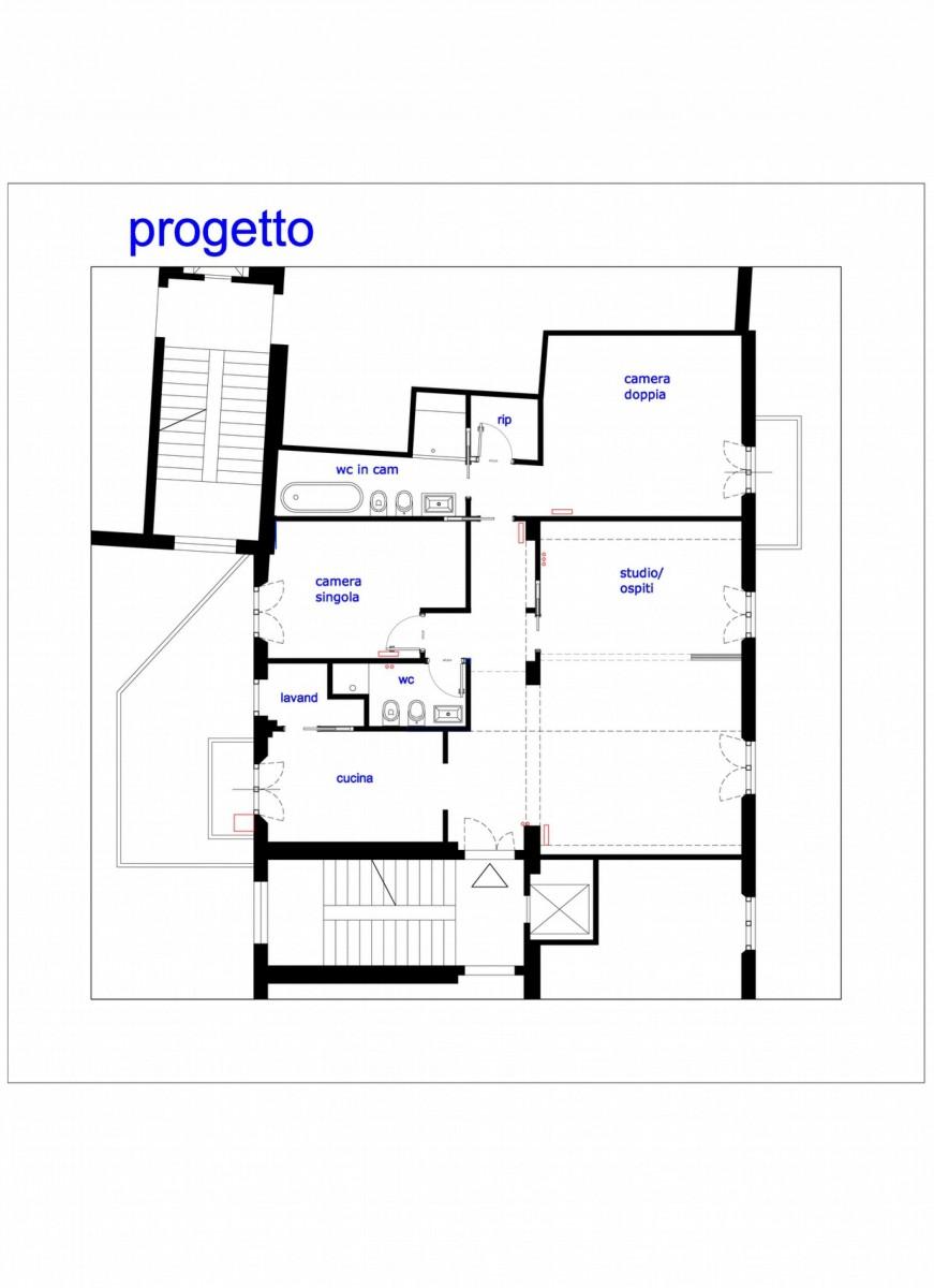 Ristrutturazione casa 110mq a roma - Progetto casa roma ...