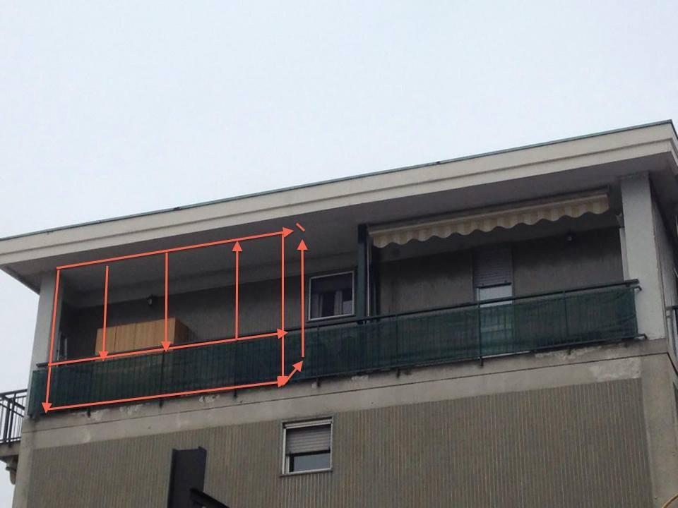 Realizzazione veranda su balcone a Bresso (Milano)|Preventivando.it